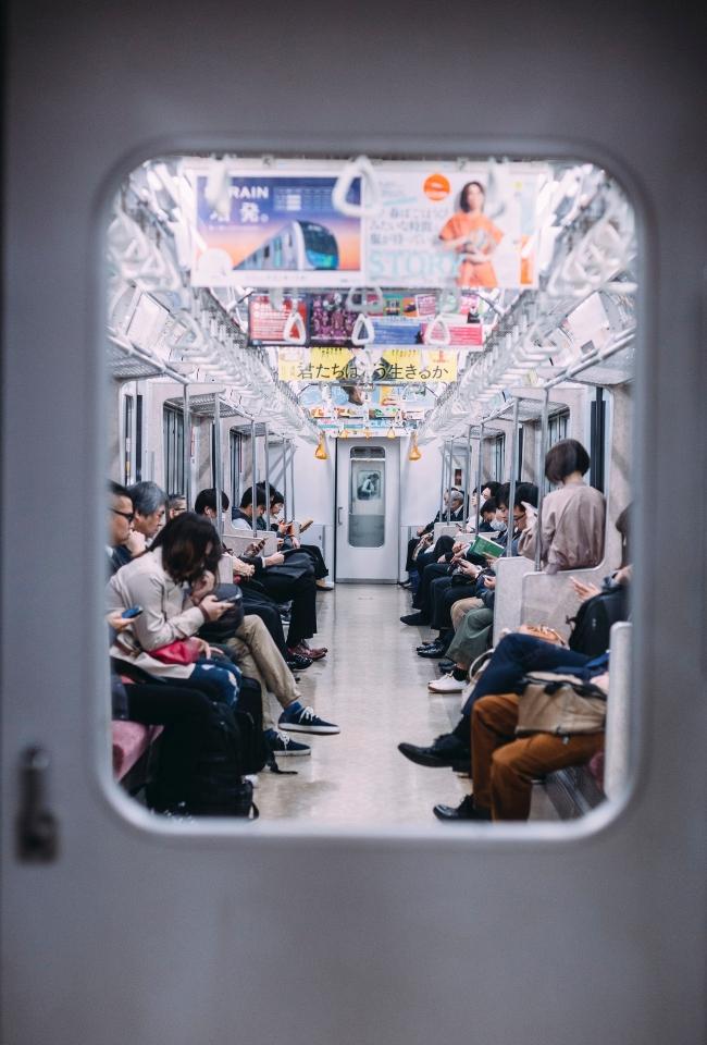 Train in Tokyo, Japan